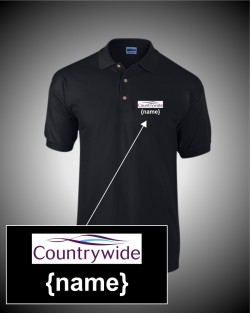 Countrywide Black Polo