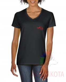 Ladies Premium Cotton V-Neck T-shirt - AQOUK