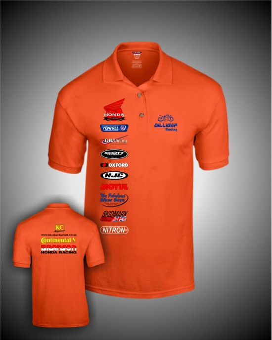 Dilligaf Polo Shirt (Orange)