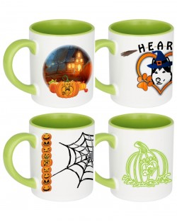 Heart Halloween Mug Set of 4