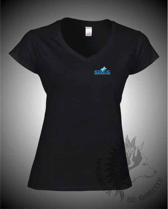 SDAS Ladies V-Neck T-shirt