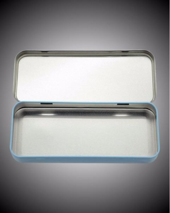 Metal Pencil Tin - Blue