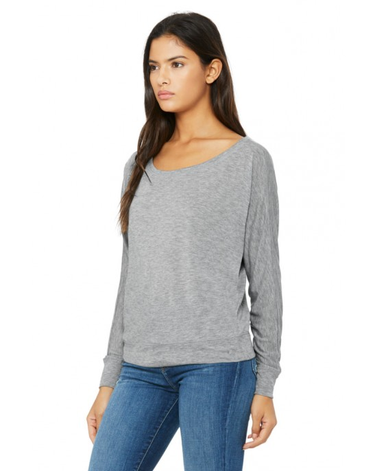 Ladies Flowy Off-The-Shoulder Tee