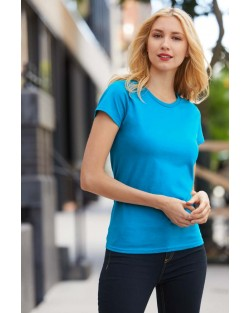 Ladies Premium Cotton V-Neck T-shirt