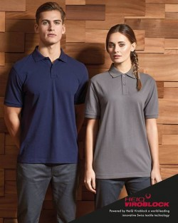 Unisex polo shirt, powered by HeiQ Viroblock