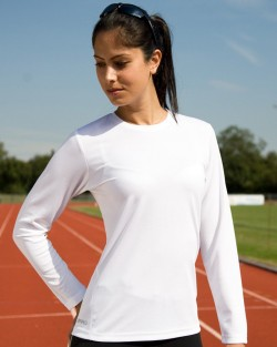 Ladies Quick Dry Long Sleeved T-shirt