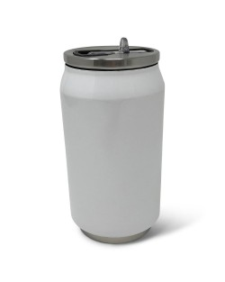 9oz Double Wall Stainless Steel Can w/ Straw