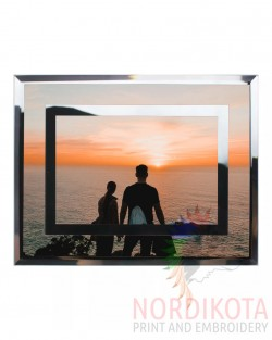 Double Mirror Edge Glass Frame