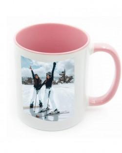 Pink Handle + Inside Mugs