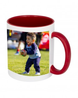 Red Handle + Inside Mugs