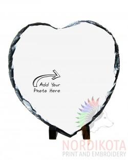 Photo Slate - Heart Small (15x15)