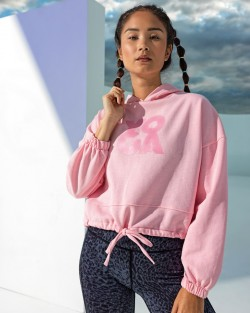Womens cropped oversize hoody