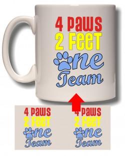 4 Paws 2 Feet Mug