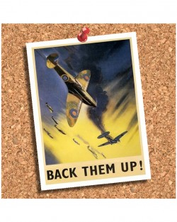 Back Them Up WWII Coaster
