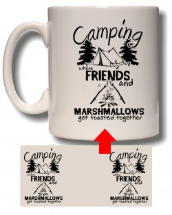 Friends and Marshmallows Mug