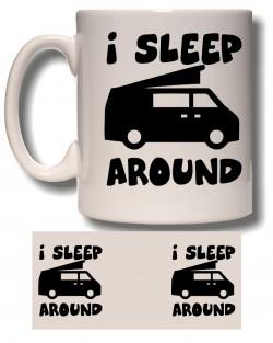 I Sleep Around Mug