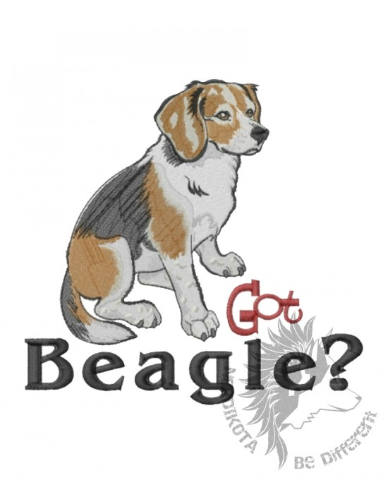 Embroidered Got Beagle Hoody