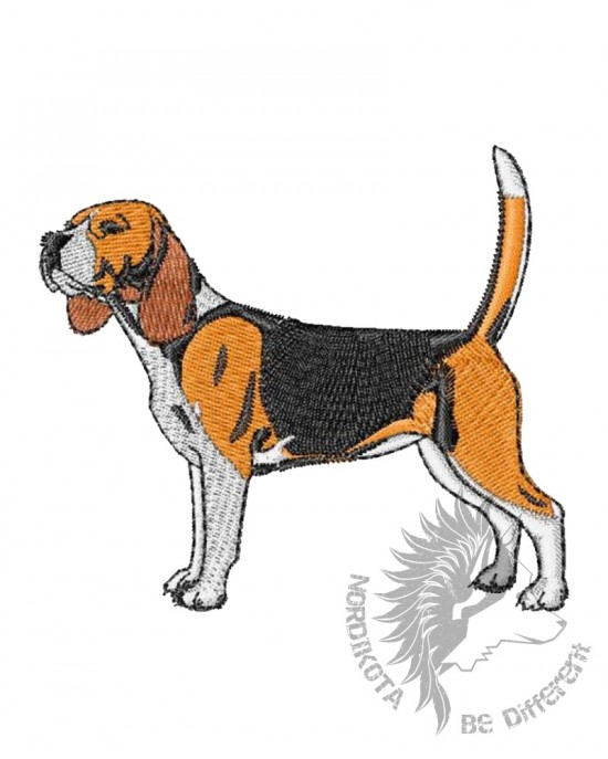 Embroidered Beagle Hoody