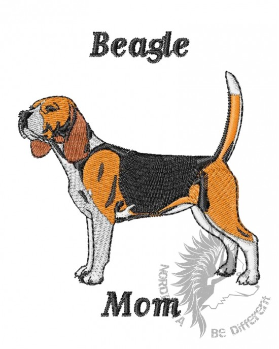 Embroidered Beagle Mom Hoody