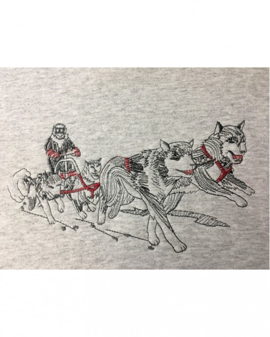 Embroidered Sled Dog Team