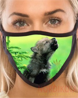Baby Wolf Face Mask