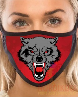 Growling Wolf Face Mask