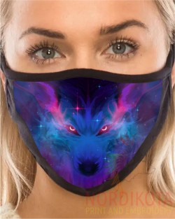 Mystical Wolf Face Mask