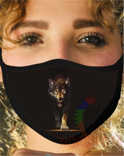 Prowling Wolf Face Mask