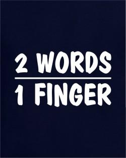 2 Words 1 Finger