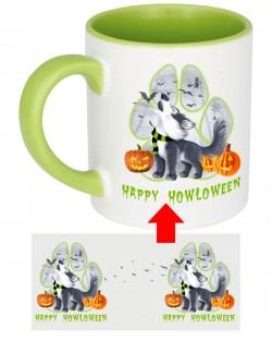 Howloween Husky Howl Paw Mug