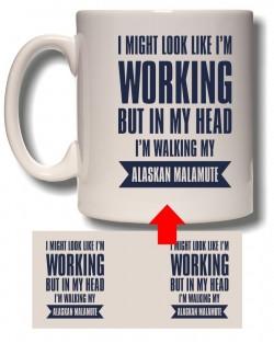 Walking My Malamute Mug