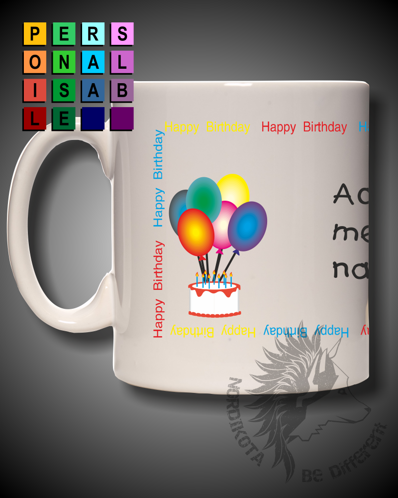 Birthday Message Mug