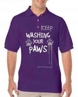 Keep Washing Your Paws Polo