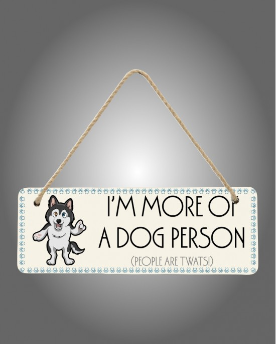 Dog Person Sign