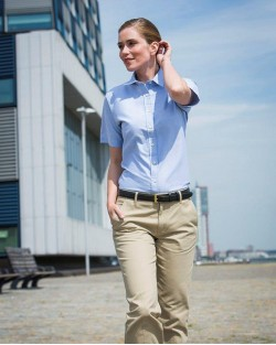 Henbury Ladies Oxford S/S Shirt